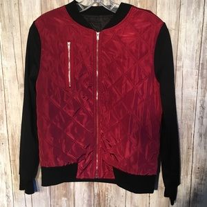 Jackets & Blazers - Quilted bomber jacket with zipper detail